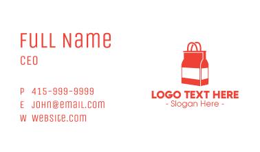 Liquor Bottle Shop Business Card