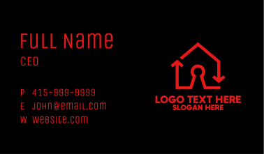Red Keyhole House Business Card