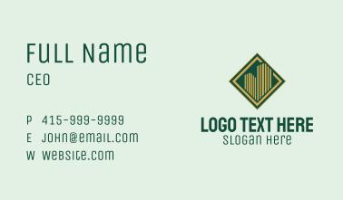 Real Estate Emblem Business Card
