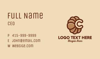 Croissant Letter C  Business Card