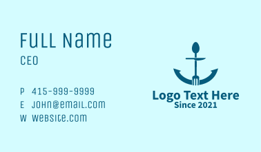 Blue Anchor Diner  Business Card