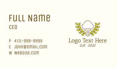 Pastry Chef Hat Business Card