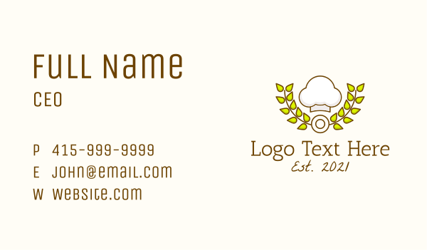 pastry shop - Pastry Chef Hat Business card horizontal design