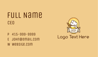 Beer Booze Banner Business Card