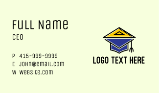 Academic Measuring Triangle  Business Card