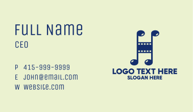 Film Musical Note Business Card