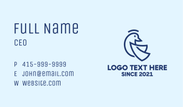 Blue Dove Monoline Business Card