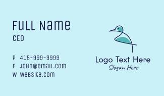 Monoline Bird  Business Card