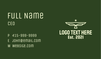 Army Star Wings Business Card