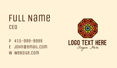 Kaleidoscope Star Octagon Business Card