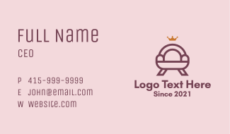 Premium Couch Furniture Business Card