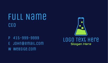 Mobile Chemistry Lab Business Card