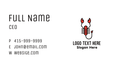 Minimalist Scorpion Business Card