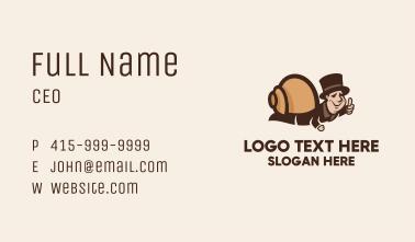 Human Snail Mascot  Business Card