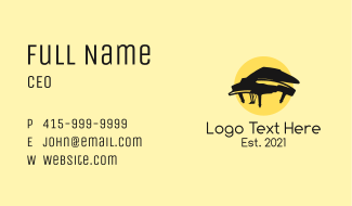 Grand Piano Musical Business Card