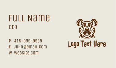 Gaming Grizzly Bear  Business Card