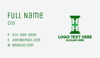 Green Hospital Pillar Business Card