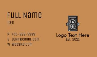 Classic Film Camera Business Card