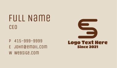 Letter S Logistics Business Card
