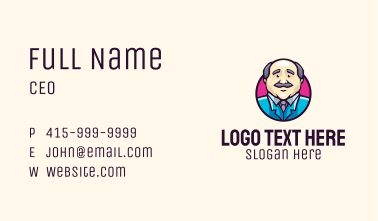 Oldman Scientist Character  Business Card