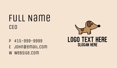 Dachshund Pup Dog  Business Card