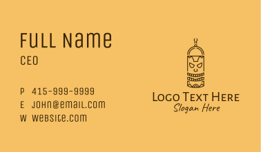 Totem Pole Cooking Outline Business Card