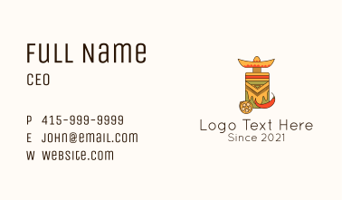 Mexican Chili Drink Business Card