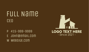 Industrial Factory Property Business Card