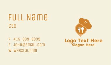 Croissant Pastry Cafe  Business Card