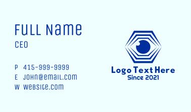 Hexagon Eye Optical Illusion Business Card