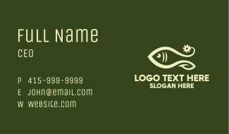 Floral Marine Fish Business Card