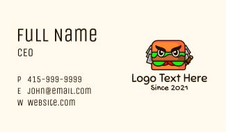 Samurai Burger Mascot Business Card