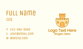 Sand Castle Playground  Business Card