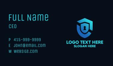 Blue Lock Shield Business Card