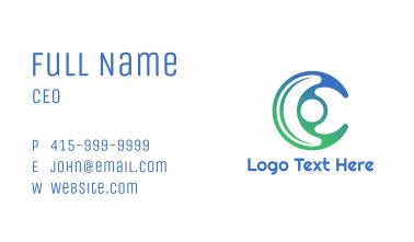 Gradient Crescent C Business Card