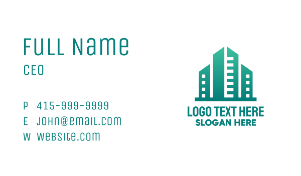 concrete - Green City Building Business card horizontal design