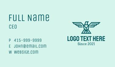 Minimalist Eagle Shield Business Card