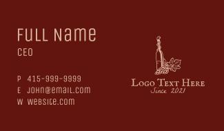 Premium Wine Vineyard  Business Card