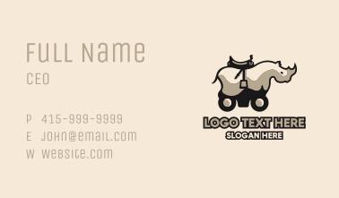 Rhino Car Business Card