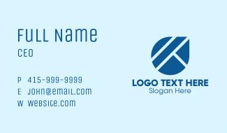 Blue Liquid Droplet Business Card