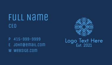 Christmas Ice Snowflake Business Card