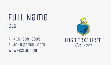 Isometric Island Resort  Business Card