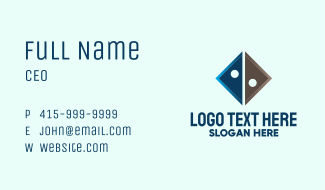 Triangle Tech Company  Business Card