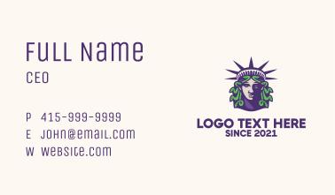 Statue of Liberty Medusa  Business Card