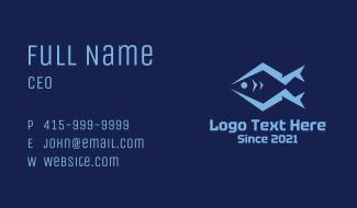 Blue Marine Fish Business Card