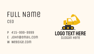 Muscled Excavator Machine Business Card