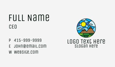 Outdoor Mountain Mosaic  Business Card