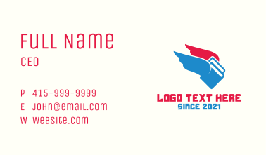Book Librarian Wings  Business Card