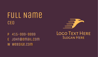 Yellow Eagle Book Business Card