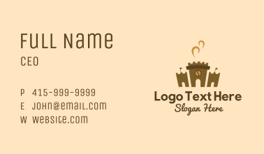 Coffee Castle Fortress Business Card